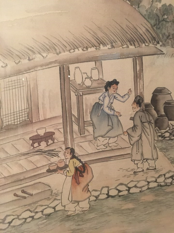 民博所蔵の「平生図(ピョンセンド)(標本番号H0095223)」(両班の一生を描いた屏風)の中