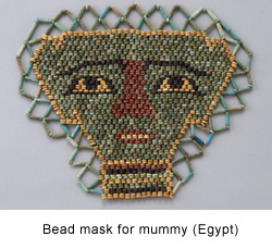 Bead mask for a mummy (Egypt)