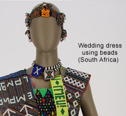 Wedding dress using beads (South Africa)