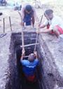 南太平洋のサンゴ島を掘る